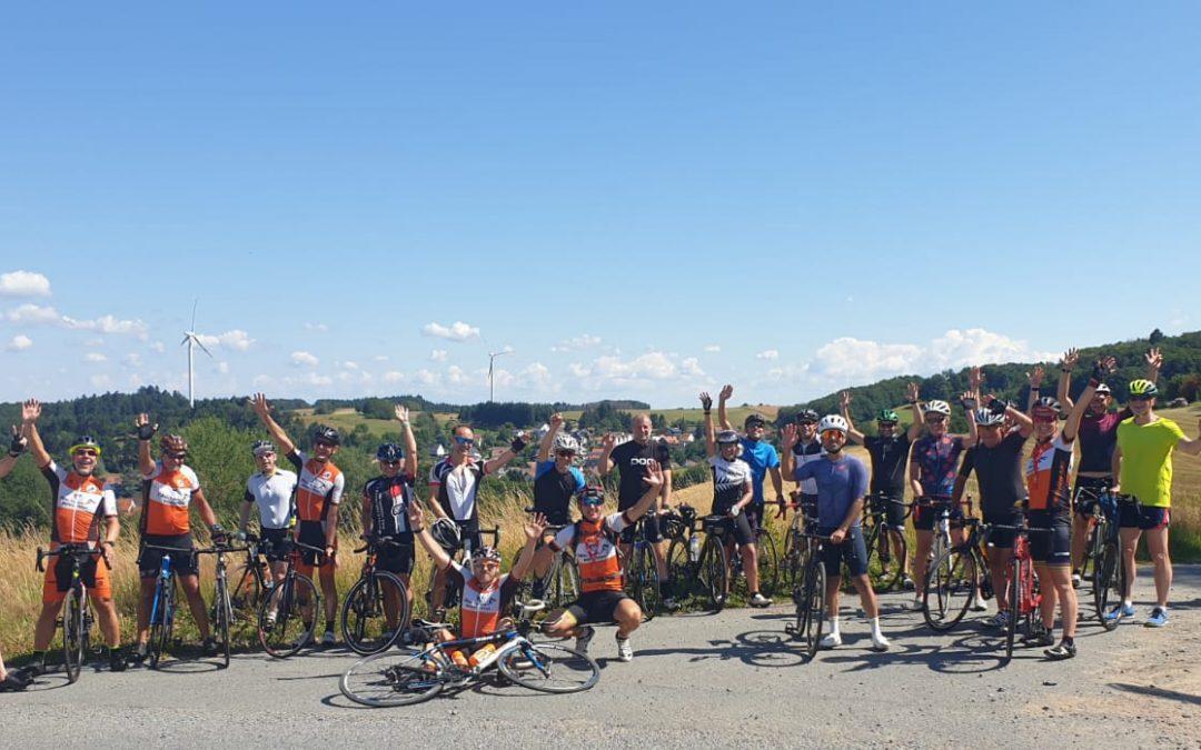 Tour de Odenwald – mit 23 Fahrradenthusiasten bei bestem Wetter