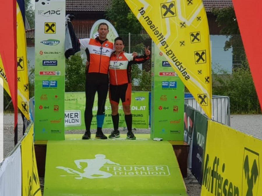Tanja und Jan beim Trumer Triathlon – im Herzen des Salzburger Landes als virtuelles Event